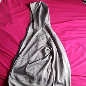 Nike gray zip up hoodie